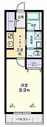 東京都多摩市桜ヶ丘4丁目の賃貸マンションの間取り