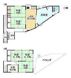 Osaka Metro谷町線 八尾南駅 徒歩14分 6LDKの間取り