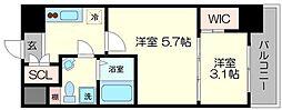 セレニテ福島シェルト[5階]の間取り