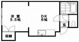 イースタンハイツ栄通[502号室]の間取り
