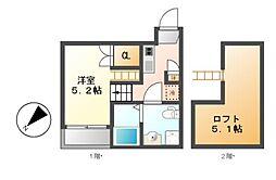 (仮称)中区新栄三丁目2新築計画[2階]の間取り