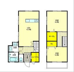 JR東海道・山陽本線 吹田駅 徒歩15分の賃貸テラスハウス 2SLDKの間取り