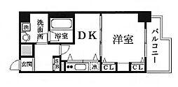 デルファーレ神戸三宮[4階]の間取り