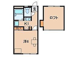 小雑賀マンション[1階]の間取り