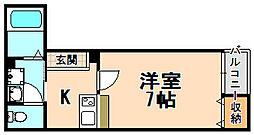 兵庫県伊丹市伊丹6丁目の賃貸アパートの間取り