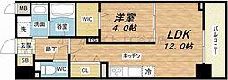 ビビアンパレス桜川公園[4階]の間取り