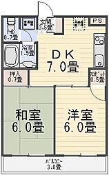 弘道高橋第一ハイツ[206号室]の間取り