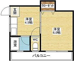 三賀マンション[1階]の間取り