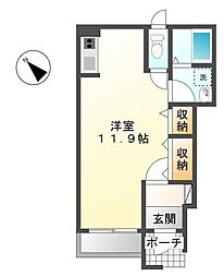 茨城県つくば市みどりの2丁目の賃貸アパートの間取り