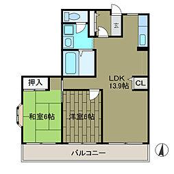 神奈川県相模原市南区上鶴間本町5丁目の賃貸マンションの間取り