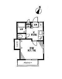 ロイヤルハウス横浜II[102号室]の間取り