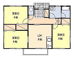 [一戸建] 神奈川県平塚市万田 の賃貸【/】の間取り
