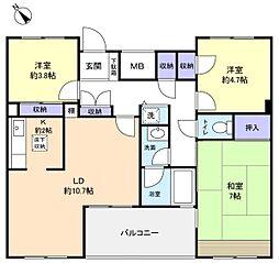 ファミーユ緑が丘A棟[1階]の間取り
