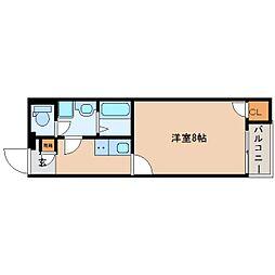 奈良県香芝市すみれ野の賃貸アパートの間取り