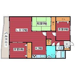 北海道札幌市豊平区月寒西四条9丁目の賃貸マンションの間取り