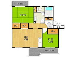 UR中山五月台住宅[8-406号室]の間取り