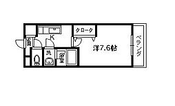 エクセレント浜寺[101号室]の間取り