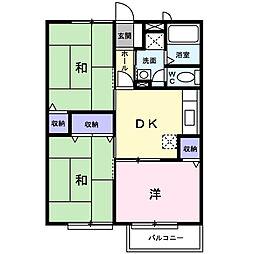 ハイムK・S[2階]の間取り