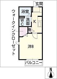 GEMINATION SS A[2階]の間取り