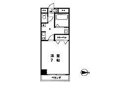 コーポカサイ弐番館[3階]の間取り