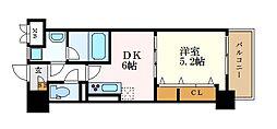 グランメゾン黒川 1階1DKの間取り