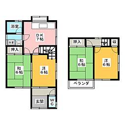 [一戸建] 岐阜県関市貸上町 の賃貸【/】の間取り
