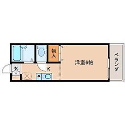 奈良県奈良市大森西町の賃貸アパートの間取り