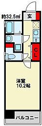 ソレアード苅田[301号室]の間取り