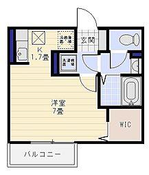 ロンタンハウス西柴[101号室]の間取り