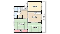 愛知県名古屋市南区天白町1丁目の賃貸マンションの間取り