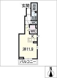 サンキャット[1階]の間取り