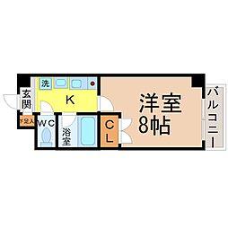 レ-ジュ城西[1階]の間取り