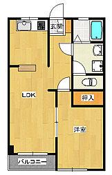 泉ヶ丘2丁目マンション[2階]の間取り