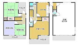 [一戸建] 大阪府八尾市清水町2丁目 の賃貸【/】の間取り