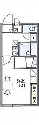 レオパレスサンクレール[2階]の間取り