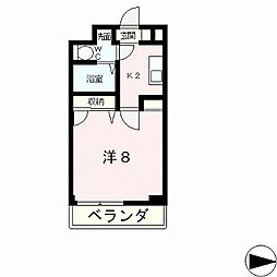 滋賀県大津市丸の内町の賃貸マンションの間取り