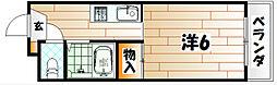ブライトハート[3階]の間取り