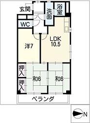 エクセル ロアール[3階]の間取り