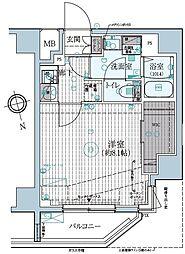 東京メトロ東西線 早稲田駅 徒歩13分の賃貸マンション 3階1Kの間取り