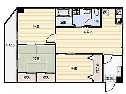 エーコービル[2階]の間取り