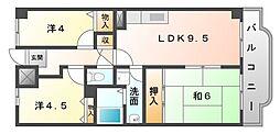 香里園オークヒルズII[5階]の間取り