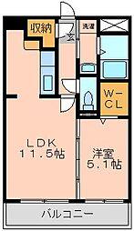 YSマンション弐番館[2階]の間取り