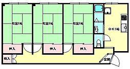 兵庫県神戸市長田区大谷町3丁目の賃貸マンションの間取り
