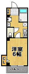 ブロッサムカスガデ[3階]の間取り