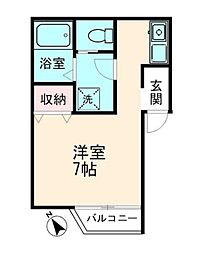神奈川県横浜市港南区上永谷3丁目の賃貸アパートの間取り