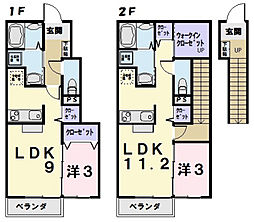 フルールIII B棟[1階]の間取り