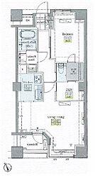 JR山手線 大塚駅 徒歩9分の賃貸マンション 3階2LDKの間取り