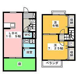 [テラスハウス] 茨城県水戸市渡里町 の賃貸【/】の間取り