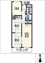 エクセル津島[2階]の間取り