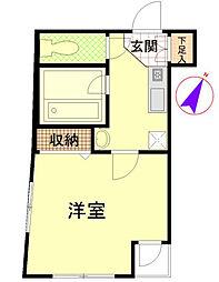 神奈川県横浜市南区白妙町4丁目の賃貸マンションの間取り